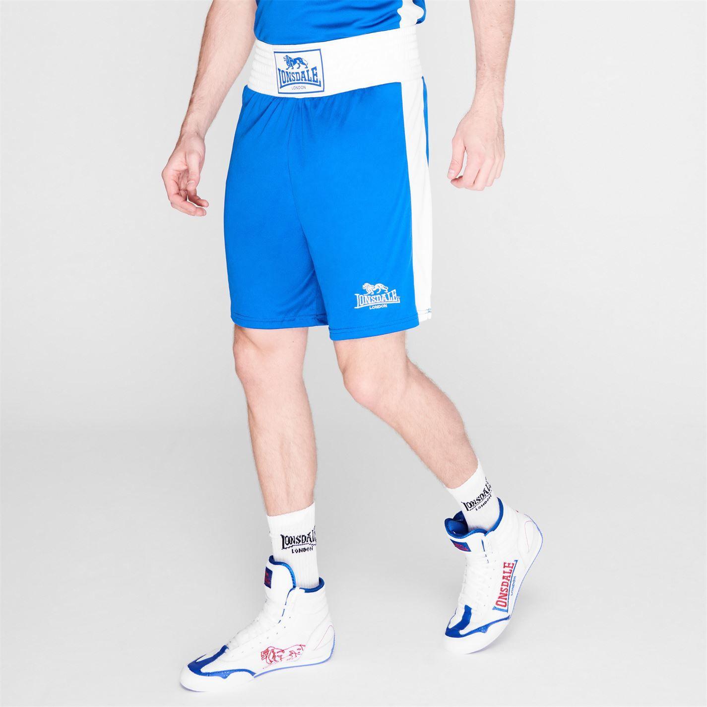 Lonsdale Mens Box Short Wide Elasticated Waistband Training Boxing Gym Bottom