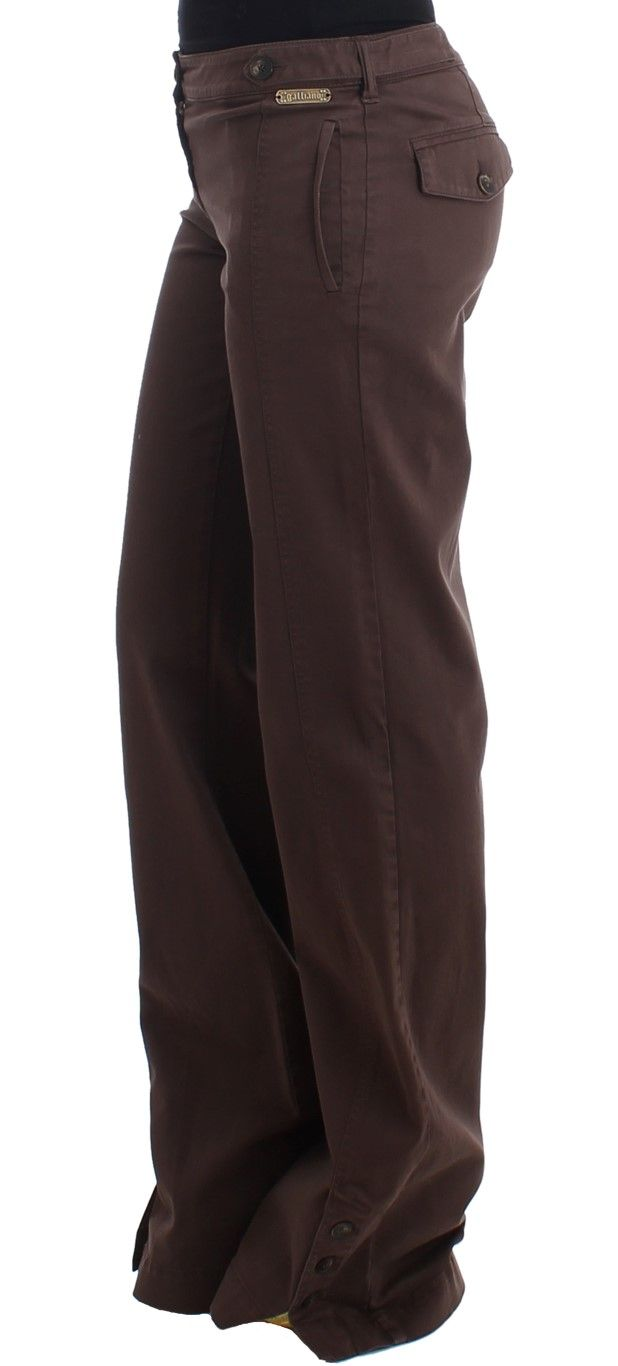 Galliano Brown wide leg cargo pants