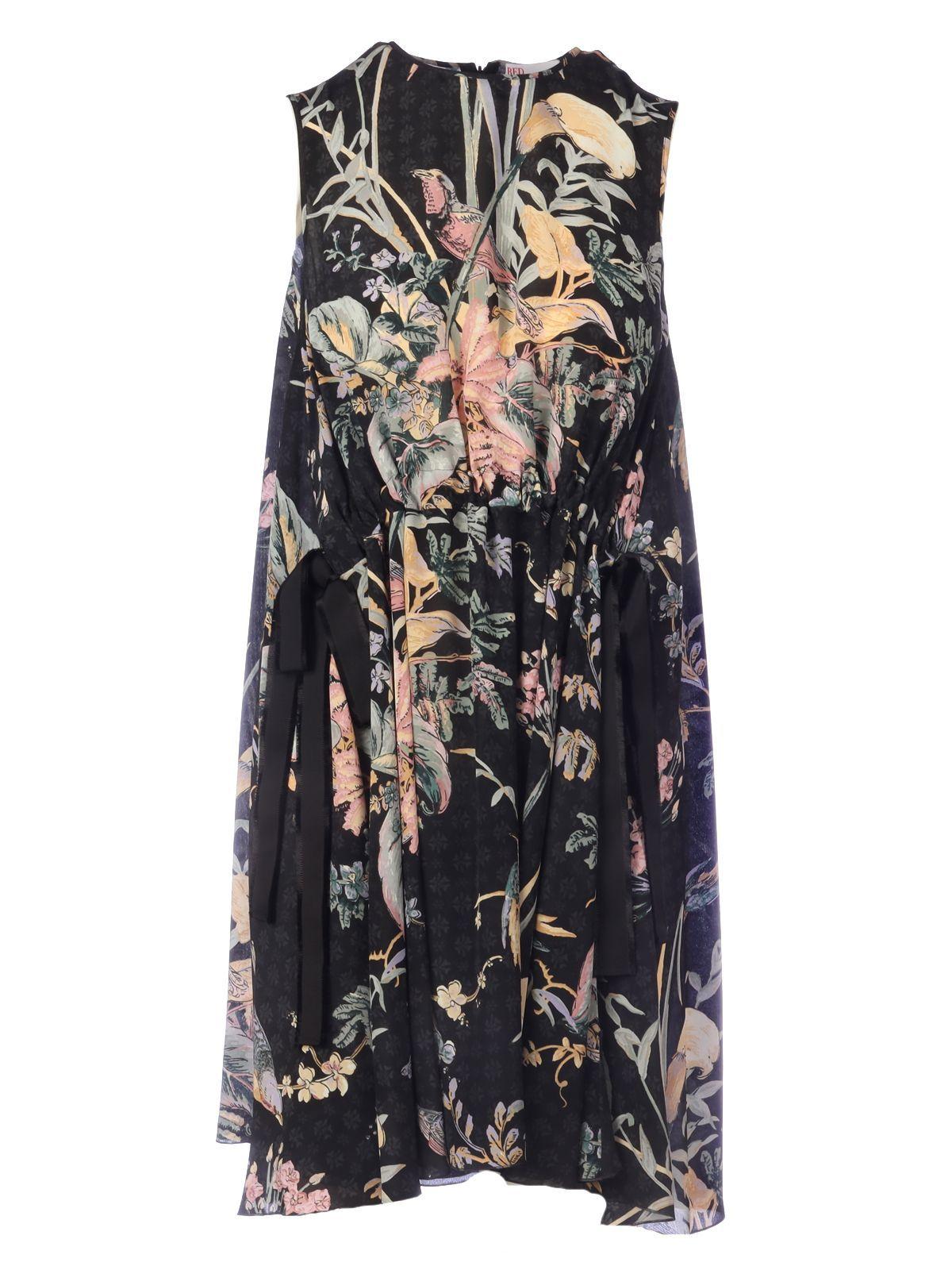 RED VALENTINO WOMEN'S TR3VAM054RS0NO BLACK SILK DRESS