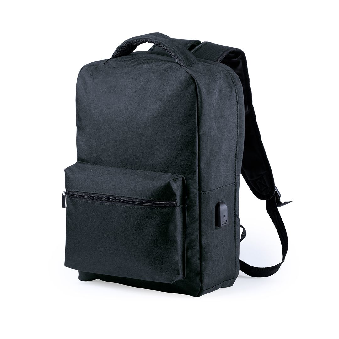 Anti-theft Backpack with USB and Tablet and Laptop Compartment Smartek SMTK-6345 Black