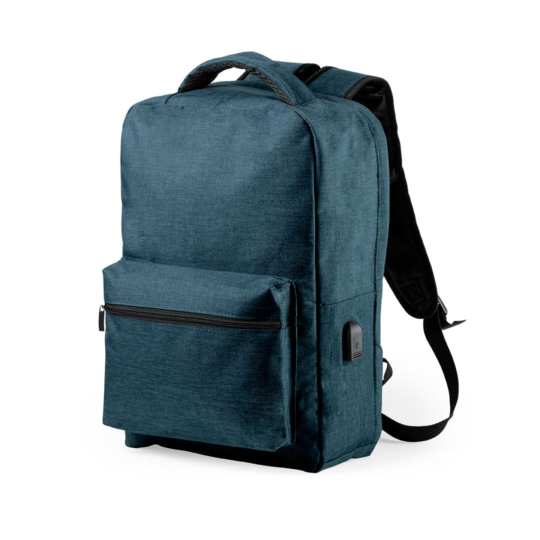 Anti-theft Backpack with USB and Tablet and Laptop Compartment Smartek SMTK-6345 Marine