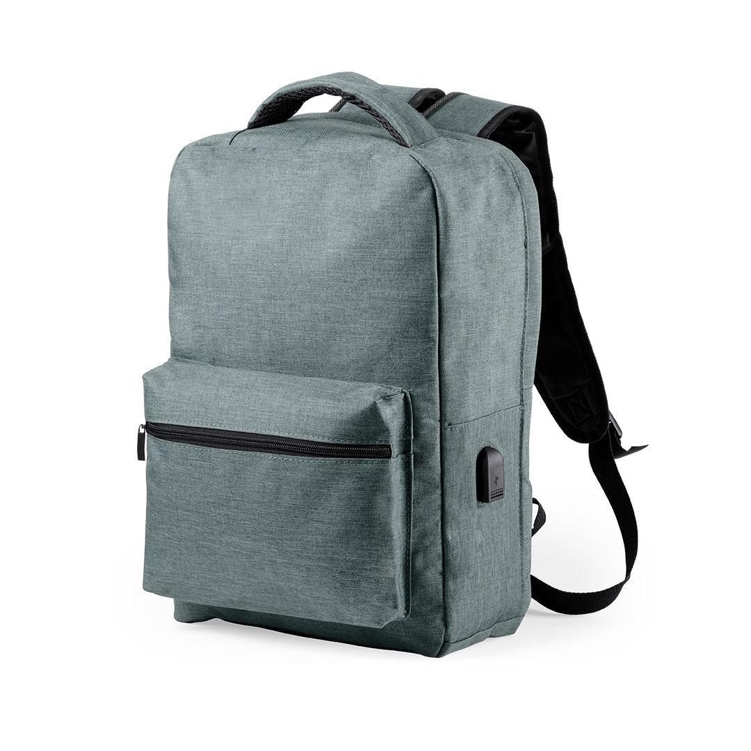 Anti-theft Backpack with USB and Tablet and Laptop Compartment Smartek SMTK-6345 Grey
