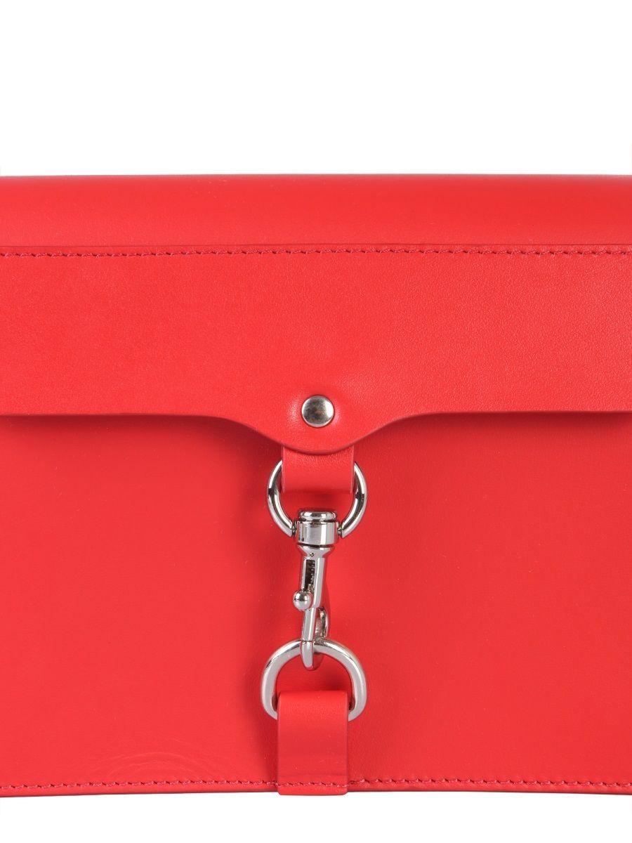 REBECCA MINKOFF WOMEN'S SS19SBH023018T RED LEATHER SHOULDER BAG