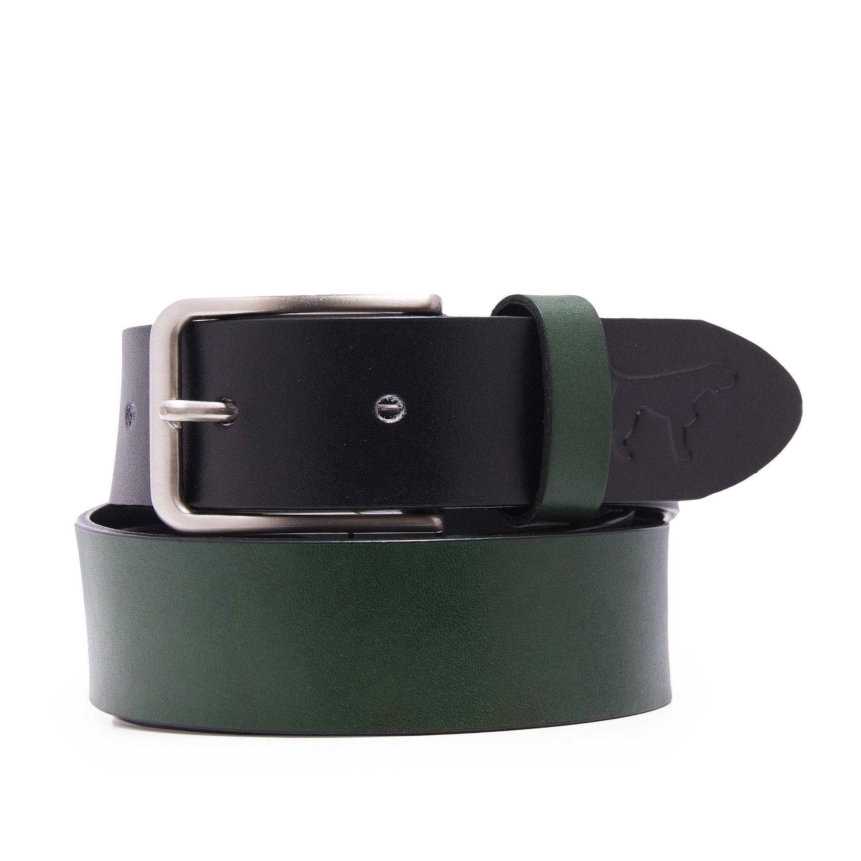 Leather Belt Bicolor for Men Castellanisimos