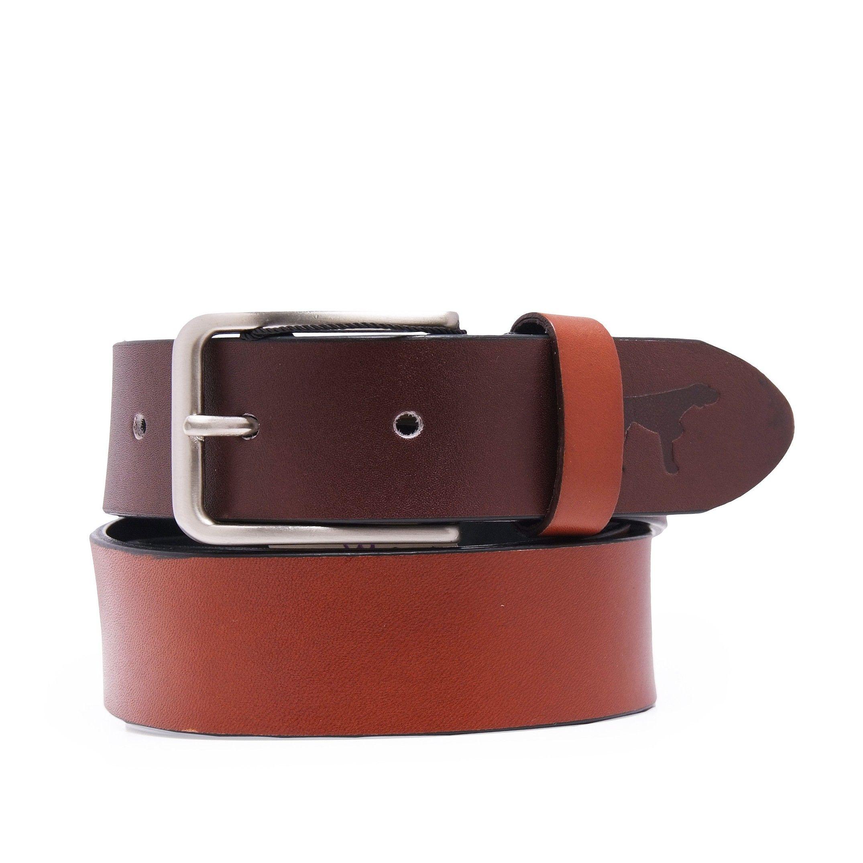 Men's Leather Belt Bicolor in Navy