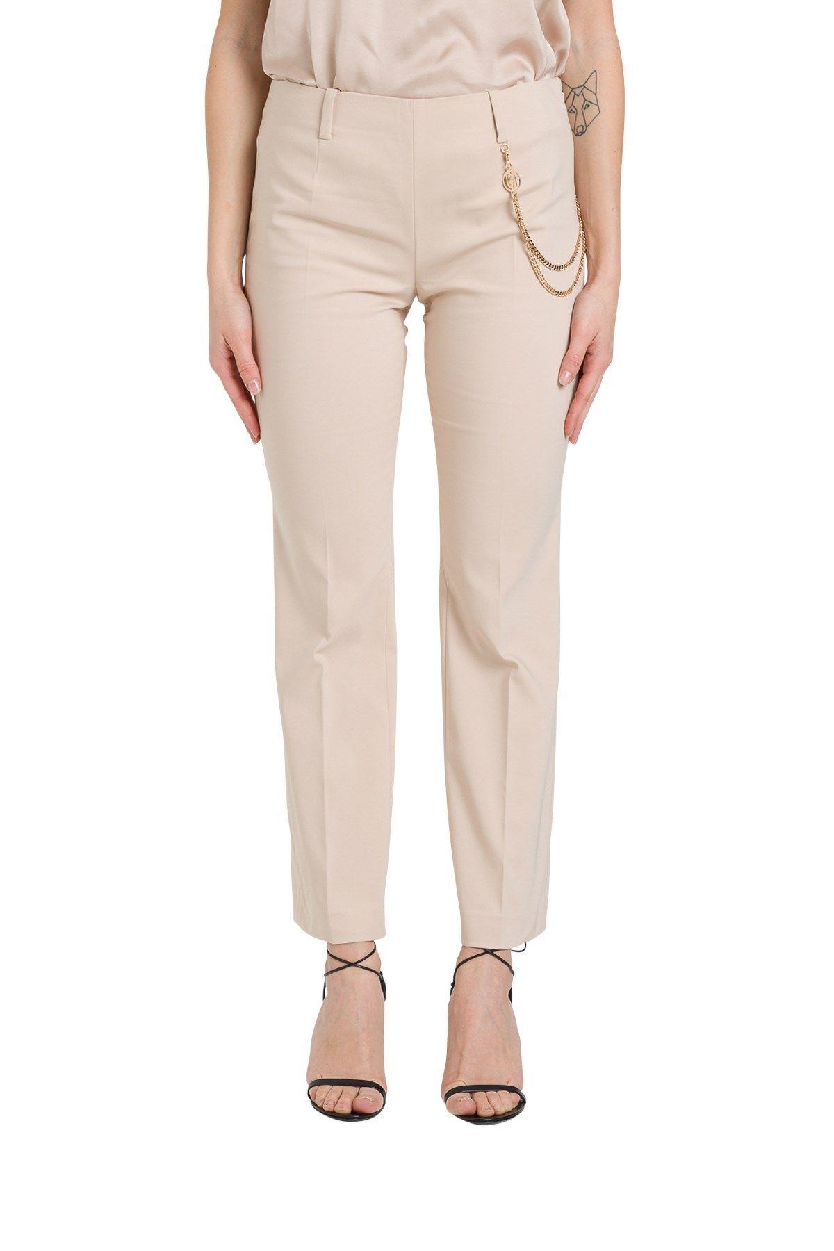 LIU JO WOMEN'S PA0059T235451309 PINK COTTON PANTS
