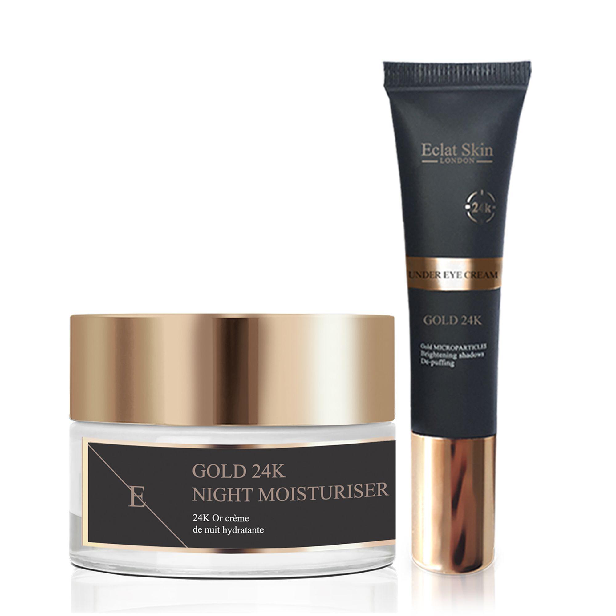 Anti-Wrinkle Night Moisturiser 24K Gold + Under Eye Cream 24K Gold