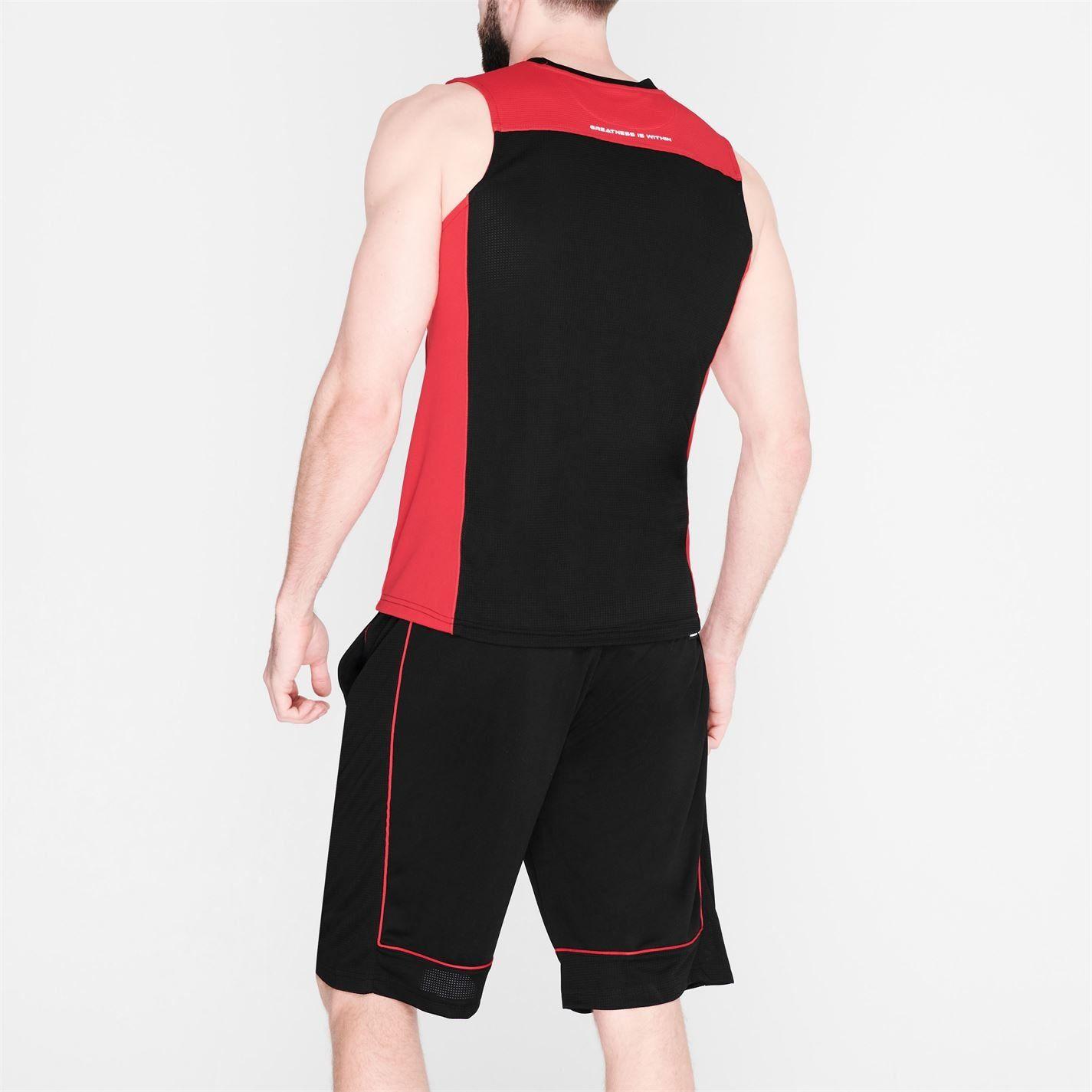 Everlast Mens Basketball Jersey V Neck Sleeveless Sports Training Athletic Top