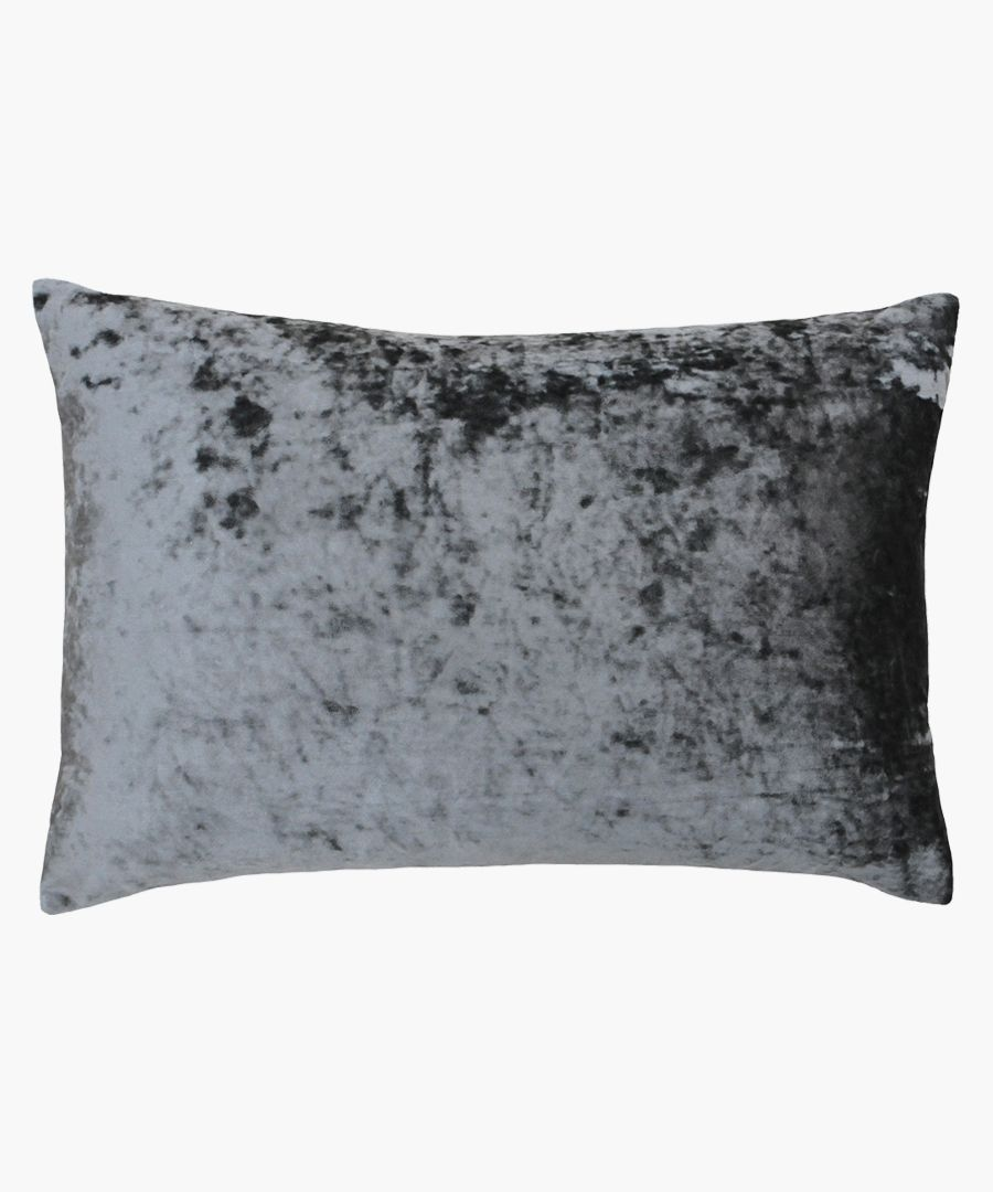 Verona pewter rectangular cushion