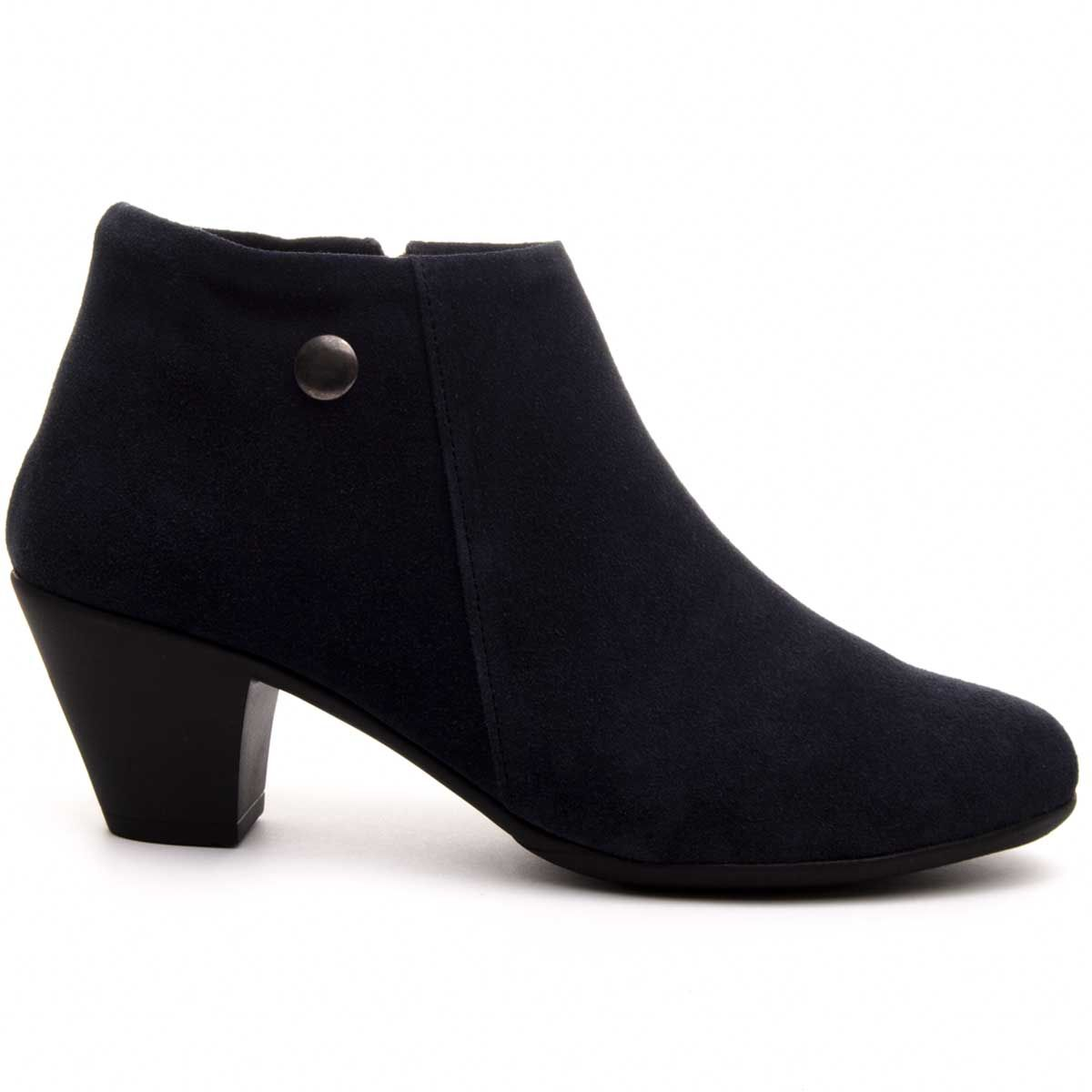 Purapiel Heeled Ankle Boot in Blue