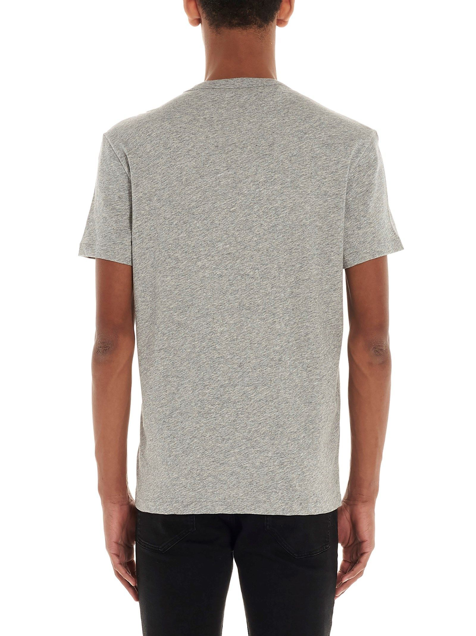 TOM FORD MEN'S BU402TFJ894K04 GREY COTTON T-SHIRT