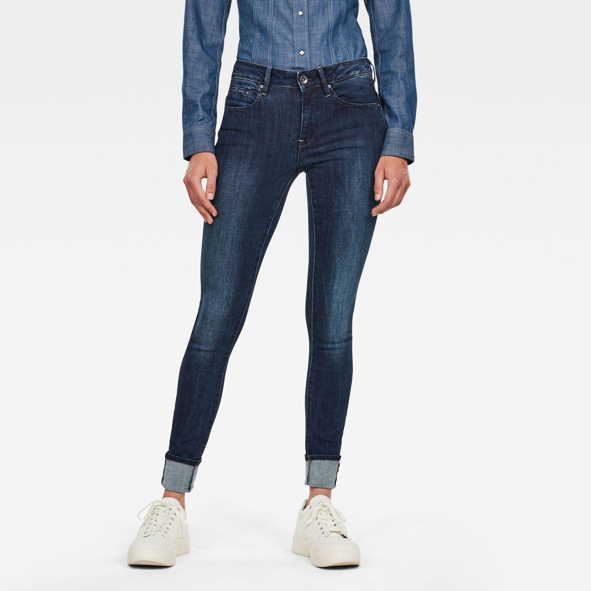 G-Star RAW Midge Zip Mid Skinny Jeans