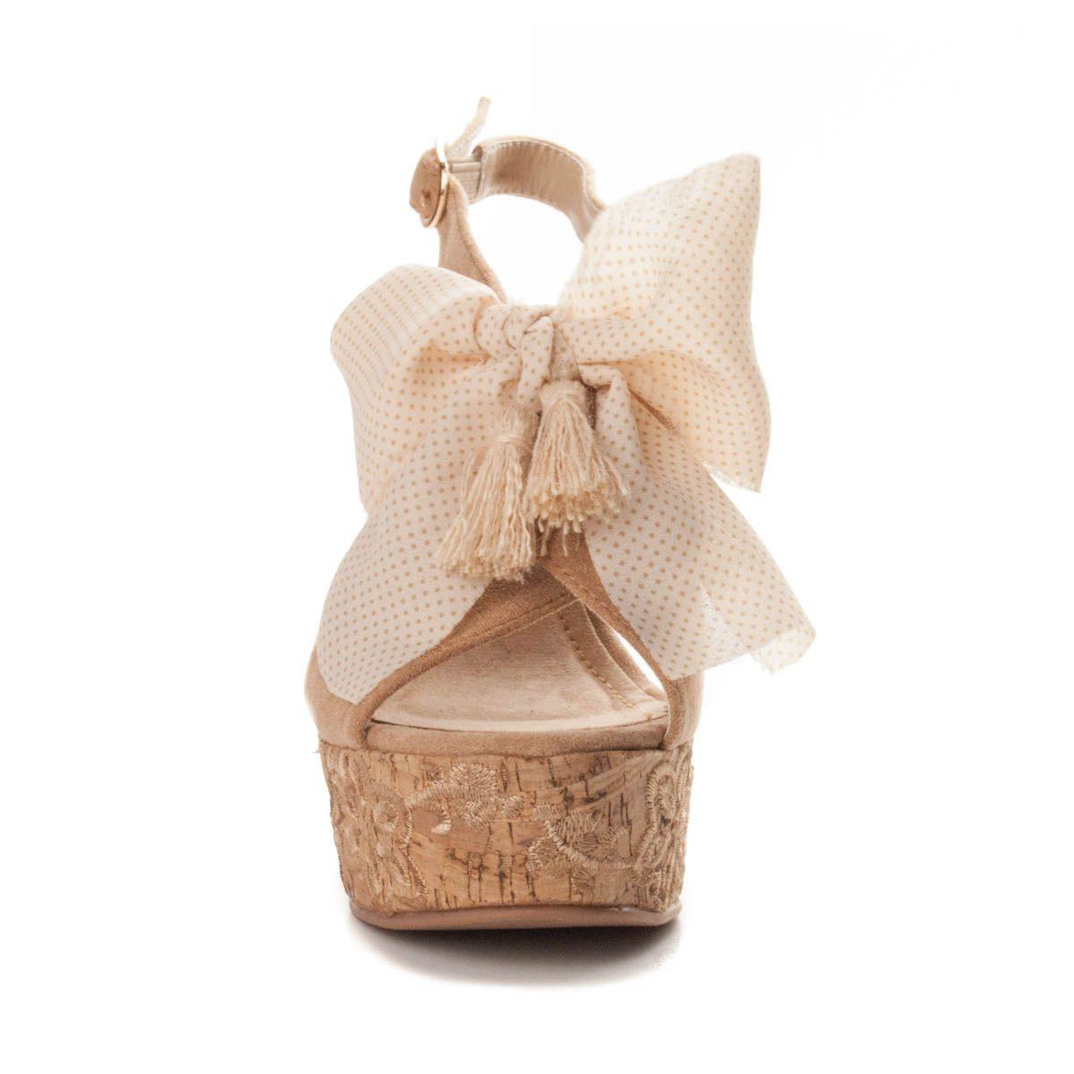 Maria Graor Wedge Sandal in Beige