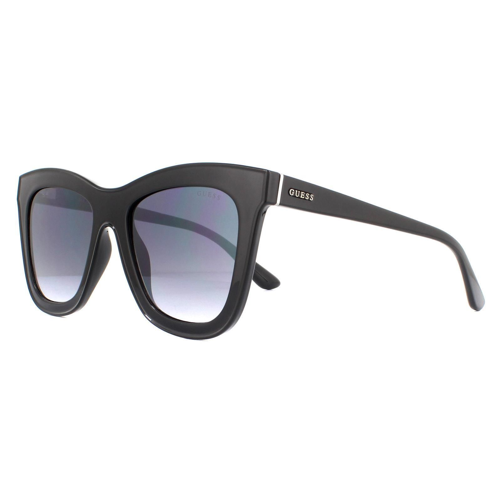 Guess Sunglasses GU7526 01B Shiny Black Grey Gradient