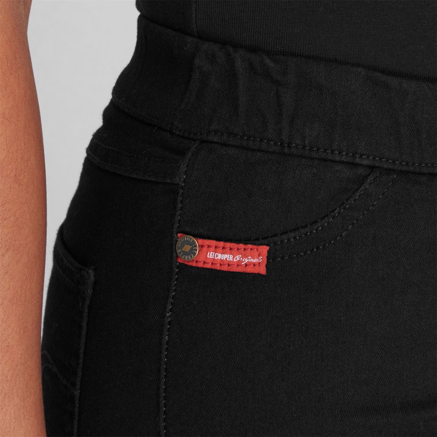 Lee Cooper Womens Jeans Jeggings Skinny Fit Lightweight Casual Button Fastening