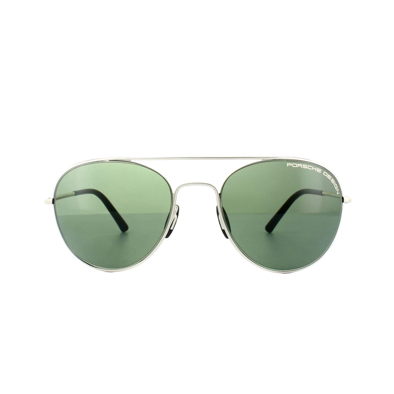 Porsche Design Sunglasses P8606 D V761 Palladium Green
