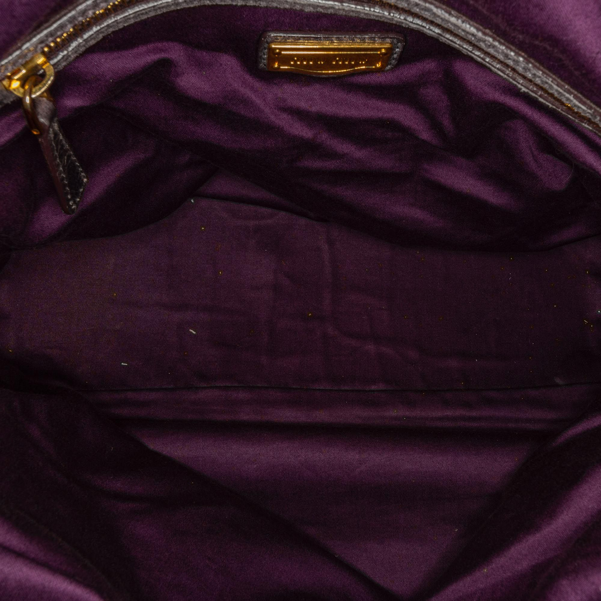 Vintage Miu Miu Leather Satchel Brown