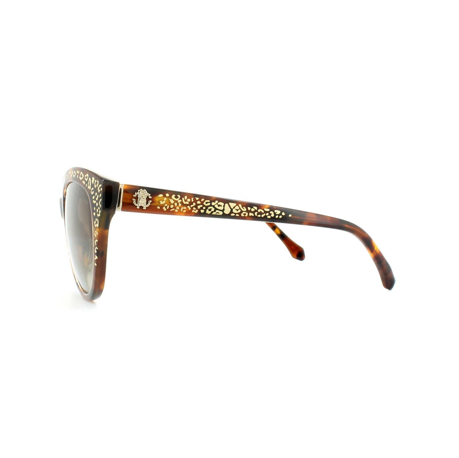 Roberto Cavalli Sunglasses Tseang RC992S 52G Dark Havana Gold Print Brown Mirror