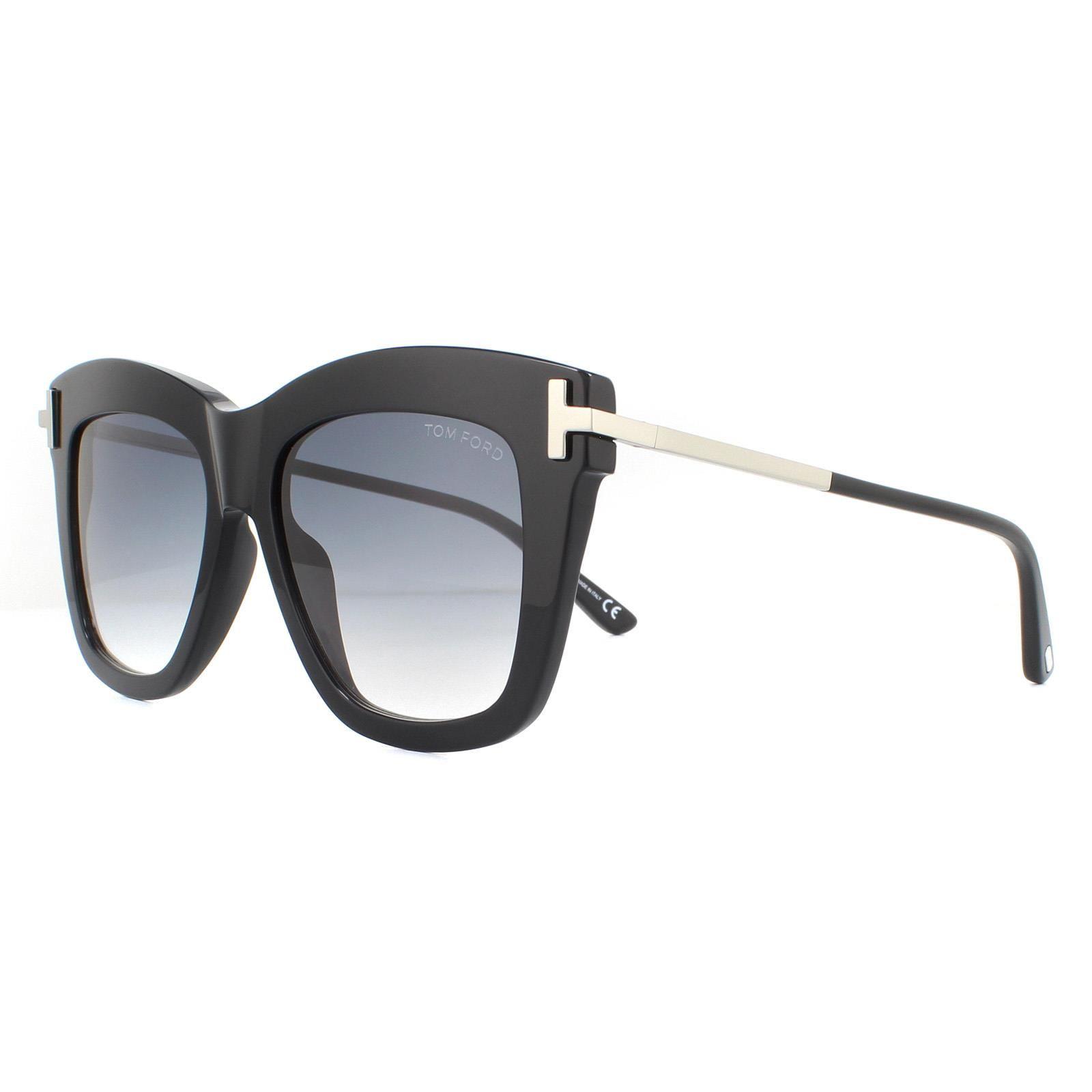 Tom Ford Sunglasses Dasha FT0822 01B Shiny Black Smoke Gradient