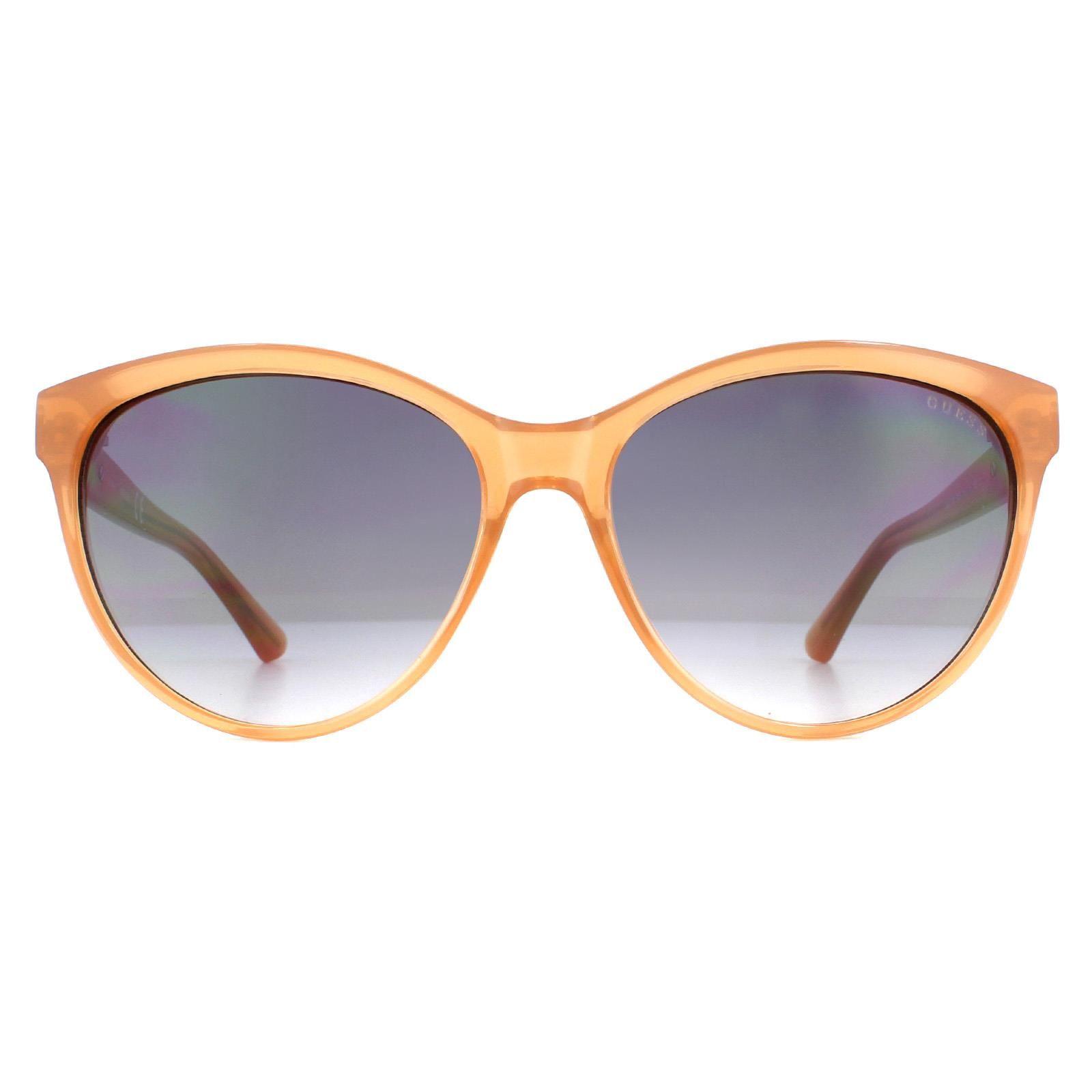 Guess Sunglasses GU7386 45B Transparent Brown Grey Gradient