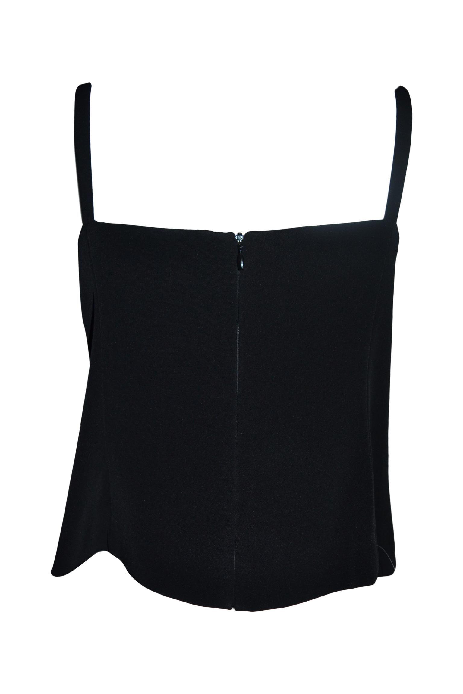 TWENTY EASY BY KAOS WOMEN'S 42TOP1030BLACK BLACK COTTON TOP