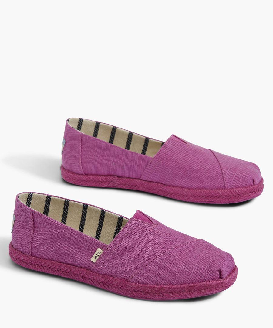 Alpargata purple canvas shoes