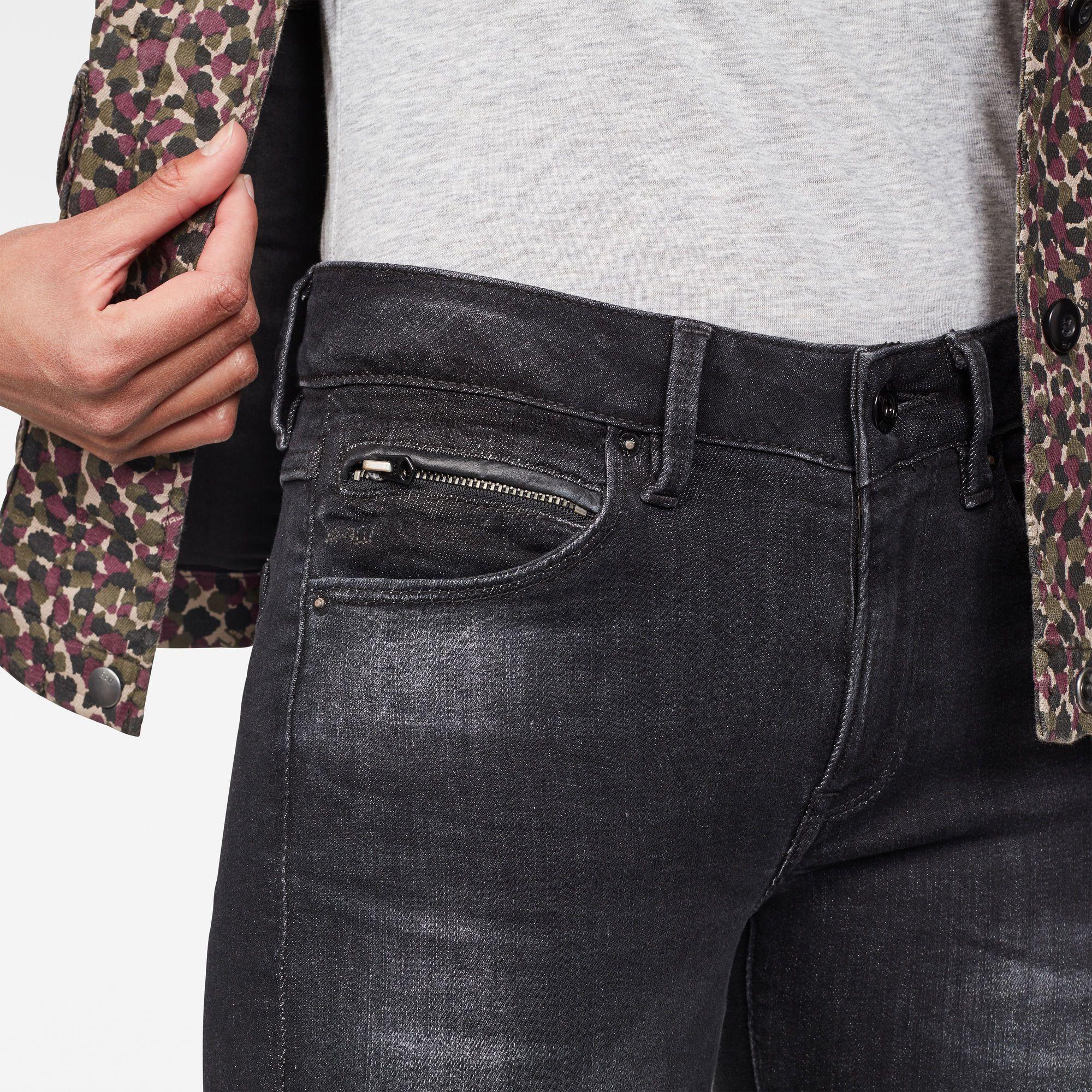 G-Star RAW 3301 Studs Mid Skinny Jeans