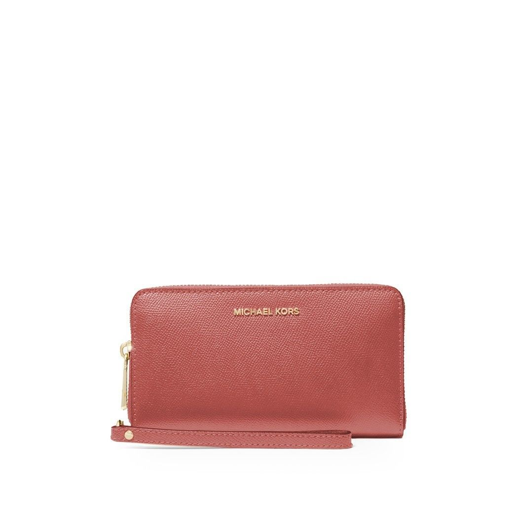 MICHAEL KORS WOMEN'S 34F9GTVE9L821 PINK LEATHER WALLET