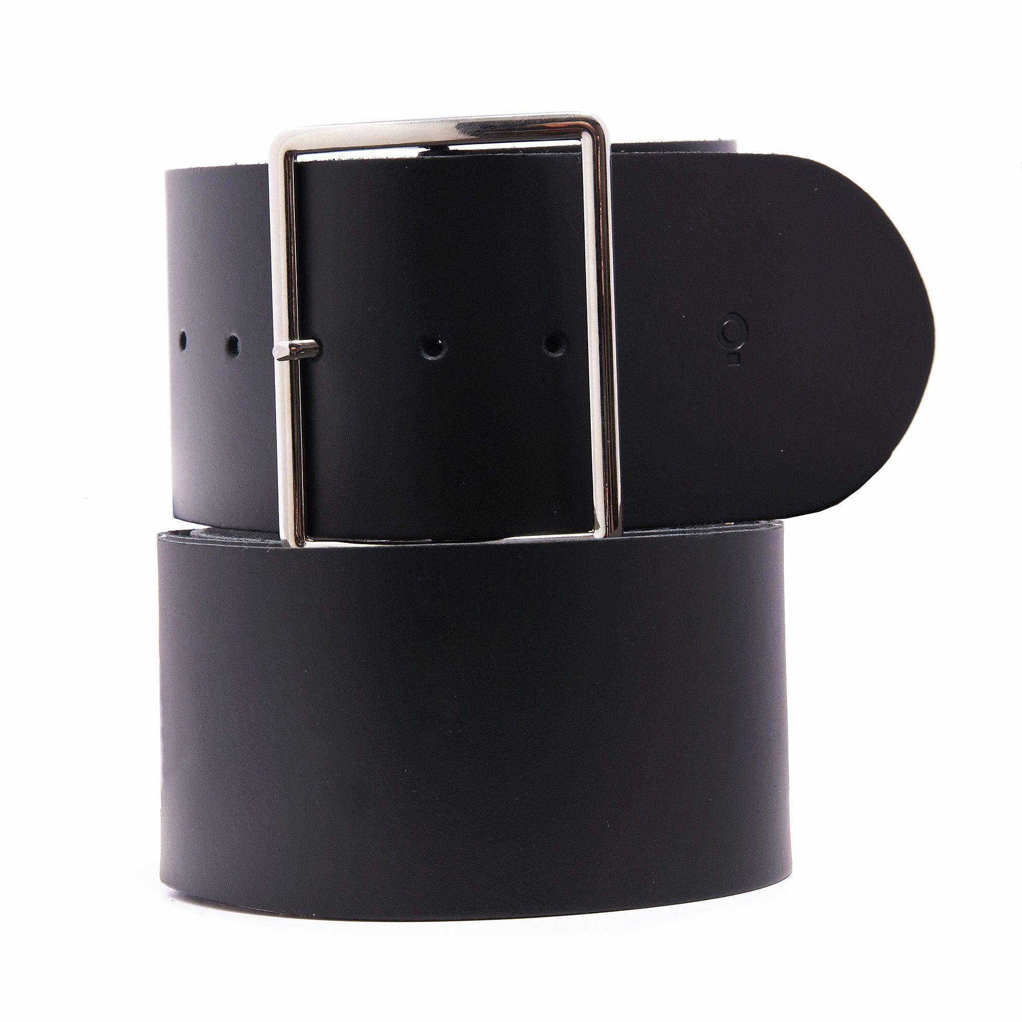 Womens Black Leather Belt