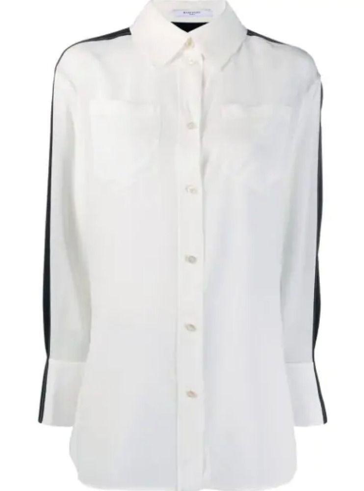 GIVENCHY WOMEN'S BW60FZ10JX004 WHITE SILK SHIRT
