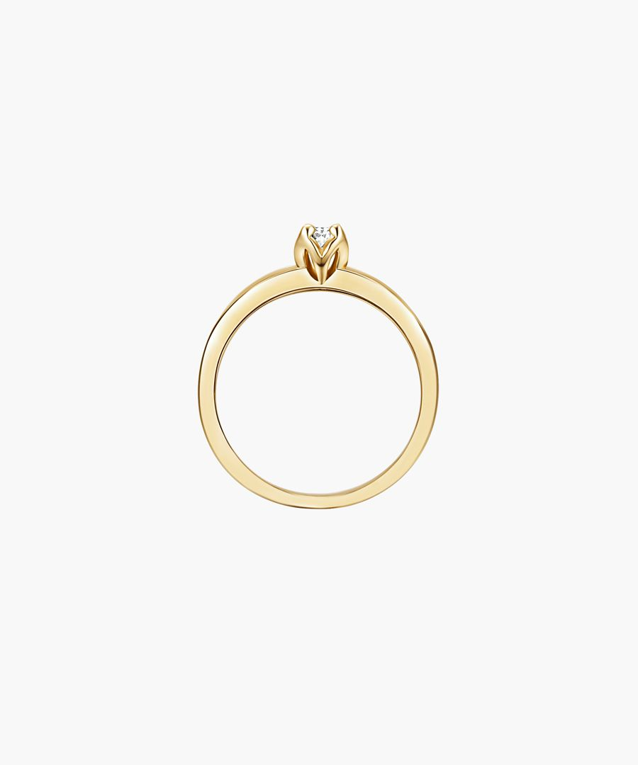 Yellow gold-plated ring