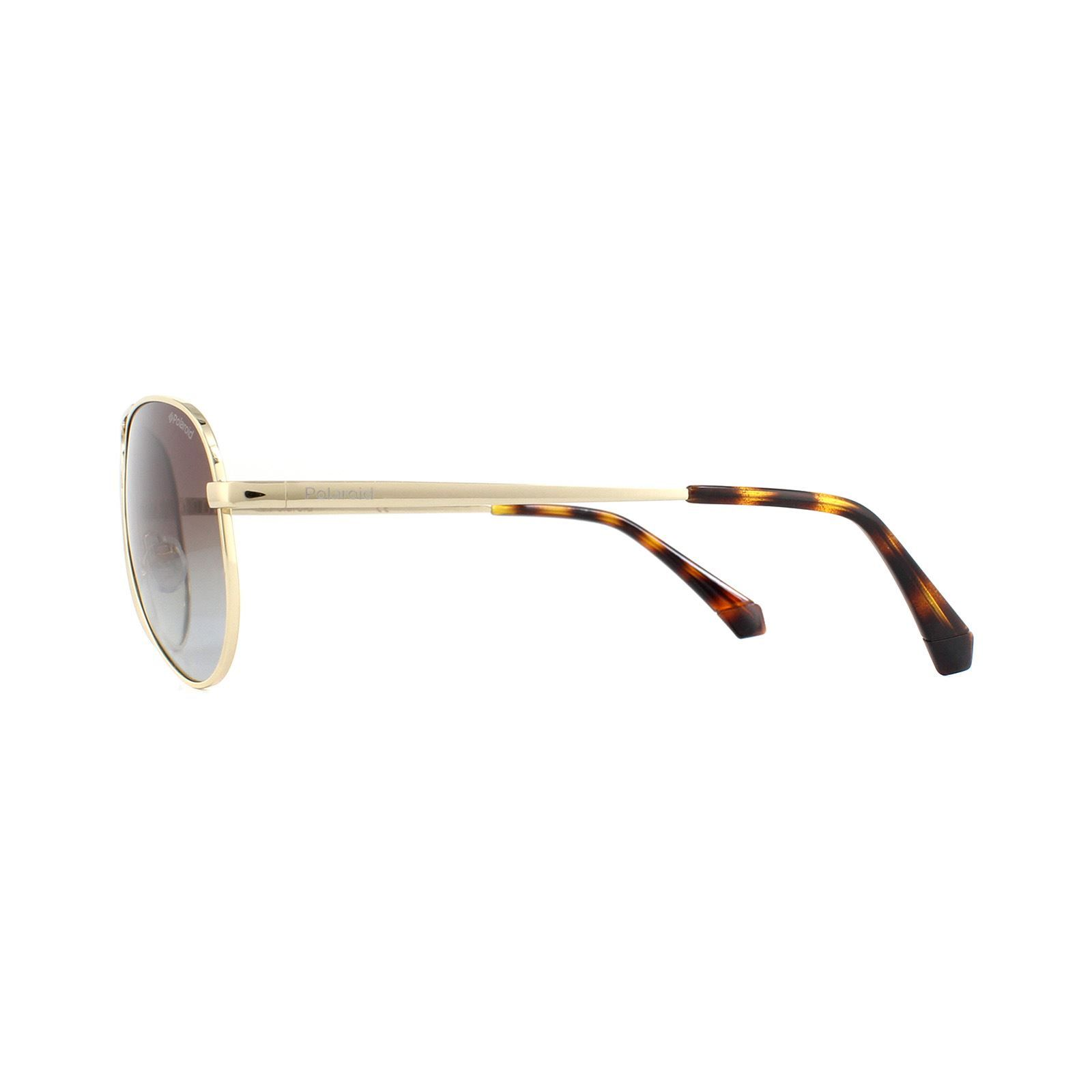 Polaroid Sunglasses 6012/N/NEW J5G Aviator LA Gold Brown Gradient Polarized 56mm