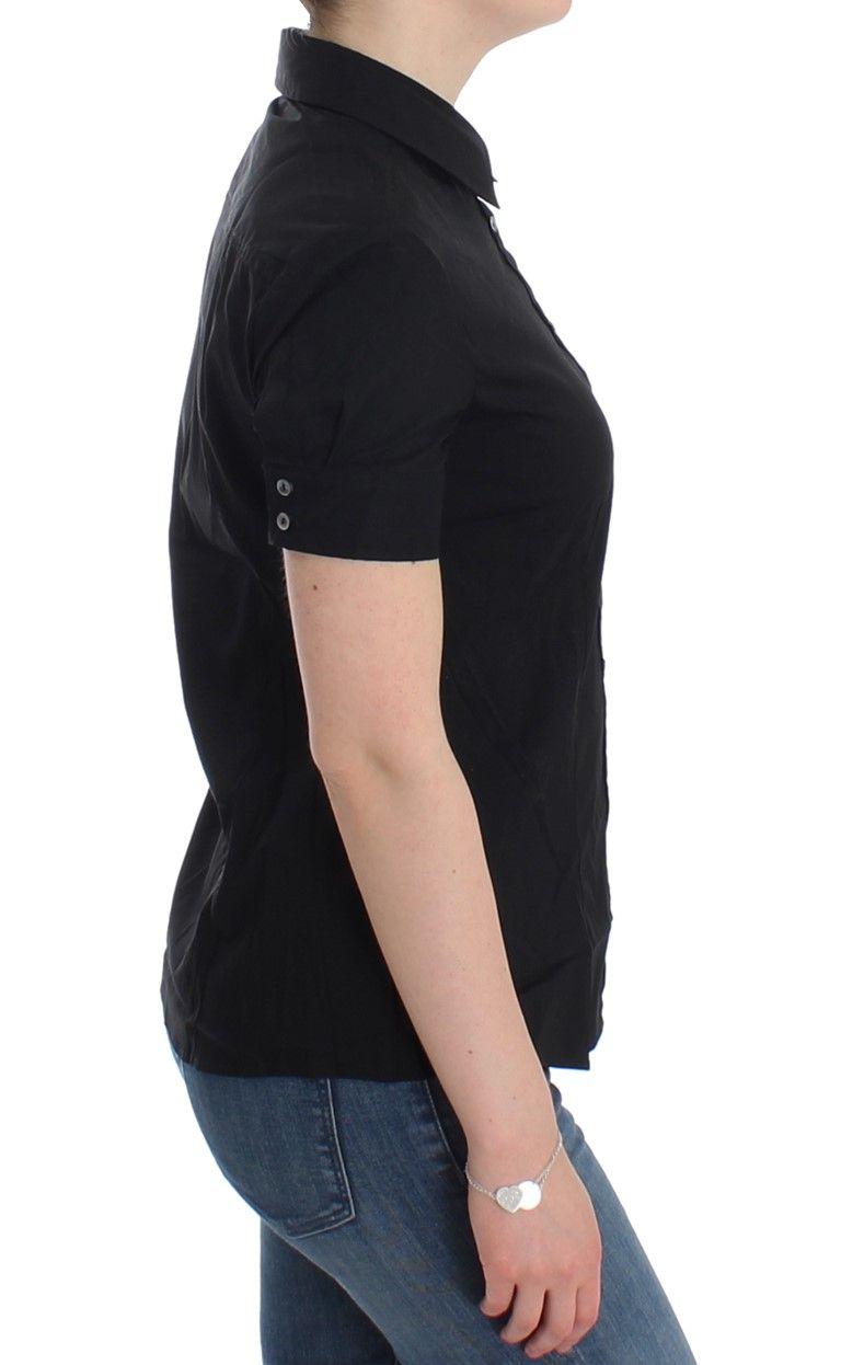 Galliano Black cotton shirt top