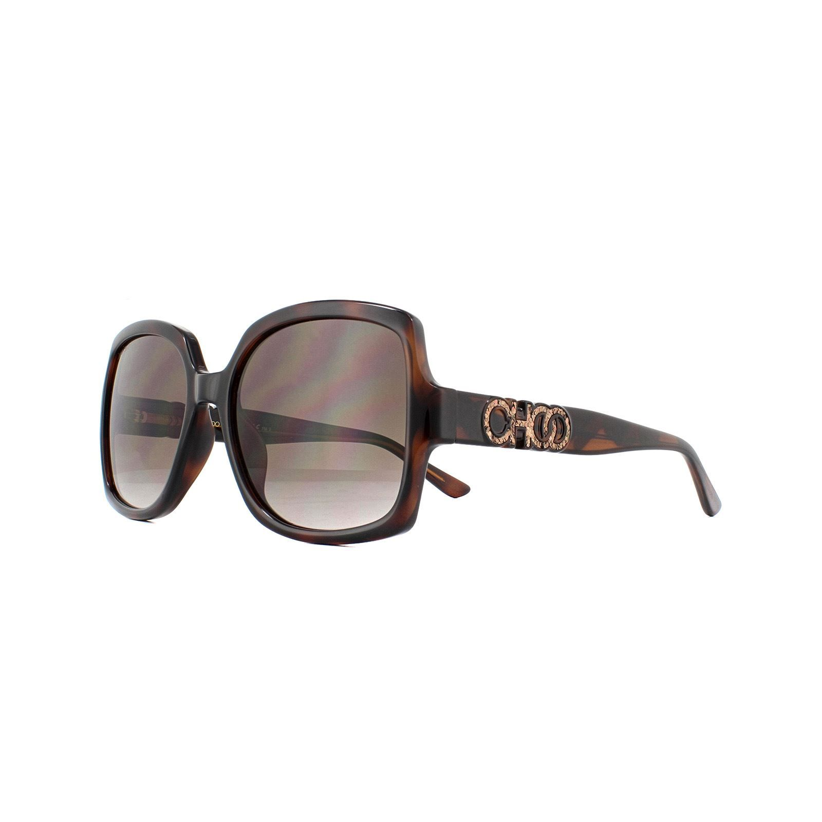 Jimmy Choo Sunglasses SAMMI/G/S 086 HA Dark Havana Brown Gradient