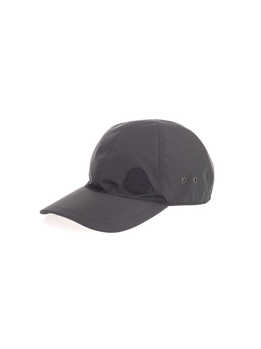 MONCLER MEN'S 002050054AD3999 BLACK Nylon HAT