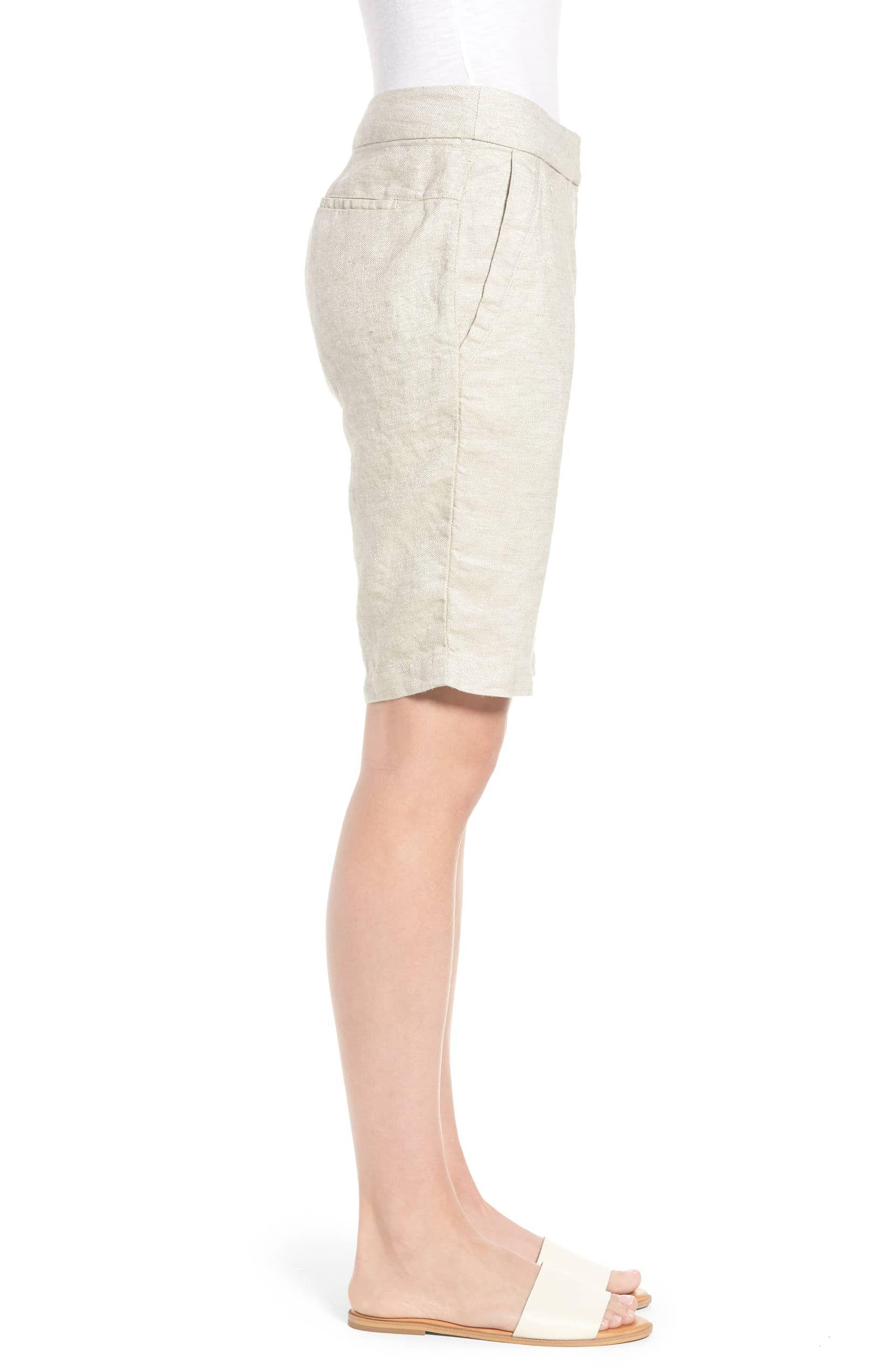 Eileen Fisher Beige Women's Size 0 Shimmer Bermuda Walking Shorts