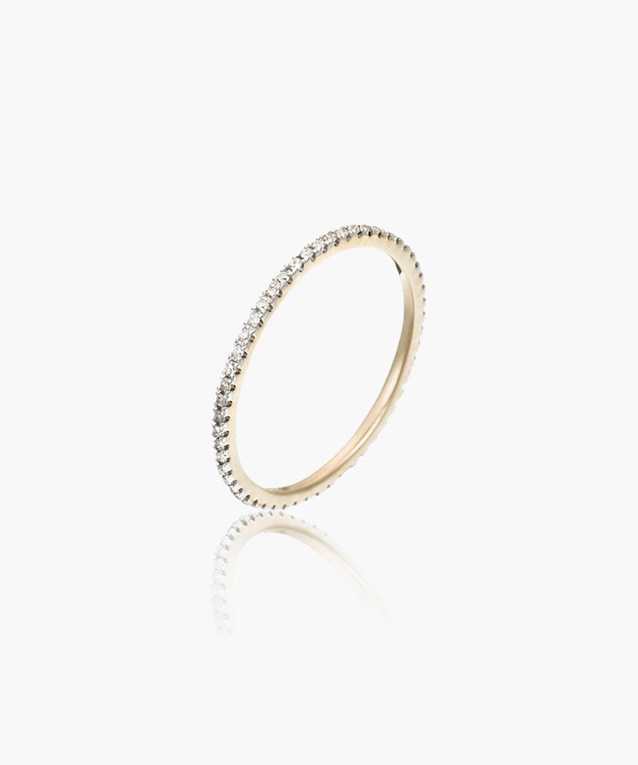 Beautiful Alliance Complete Tour 9k yellow gold 0.16ct diamond ring