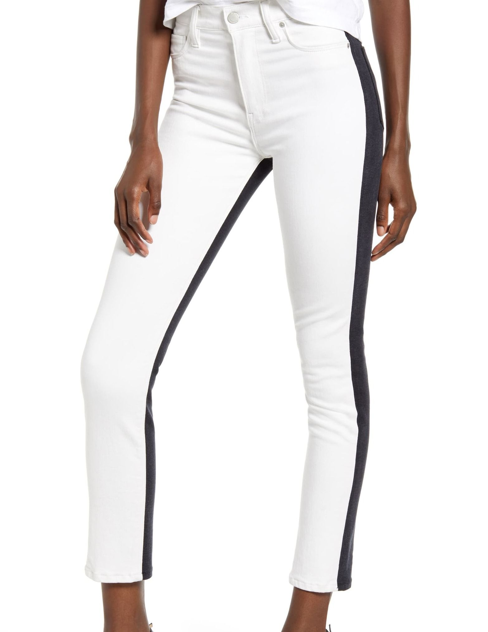 Hudson Women's Jeans Ultimate White Size 26X27 Colorblock Stretch