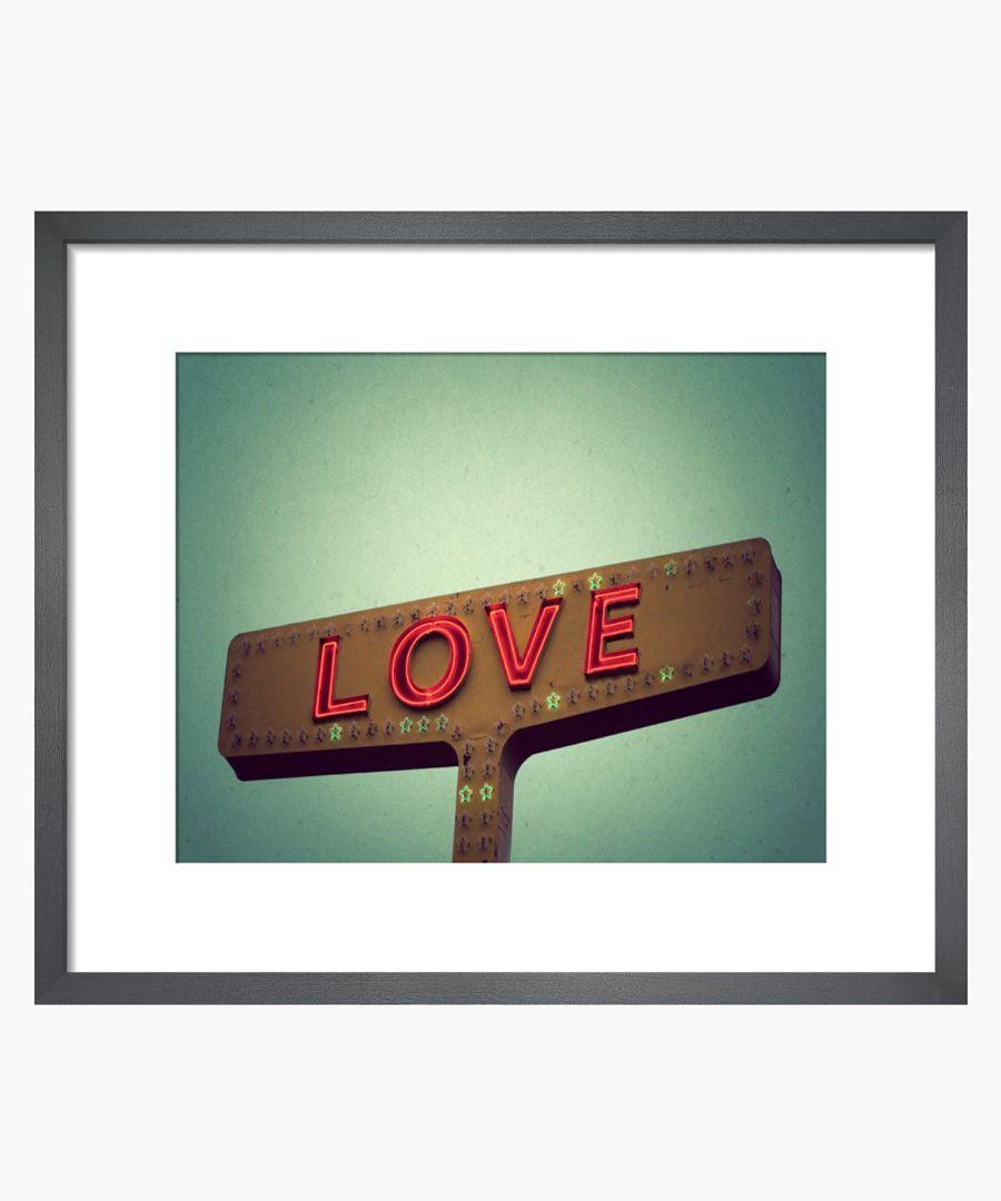 Robert Cadloff Love Sign framed print