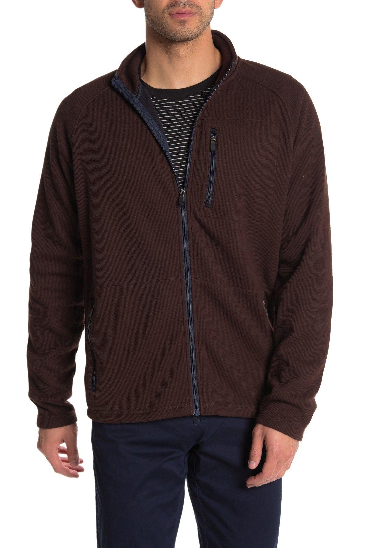 Tailor Vintage Mens Jacket Brown Size Medium M Full-Zip Fleece Lined