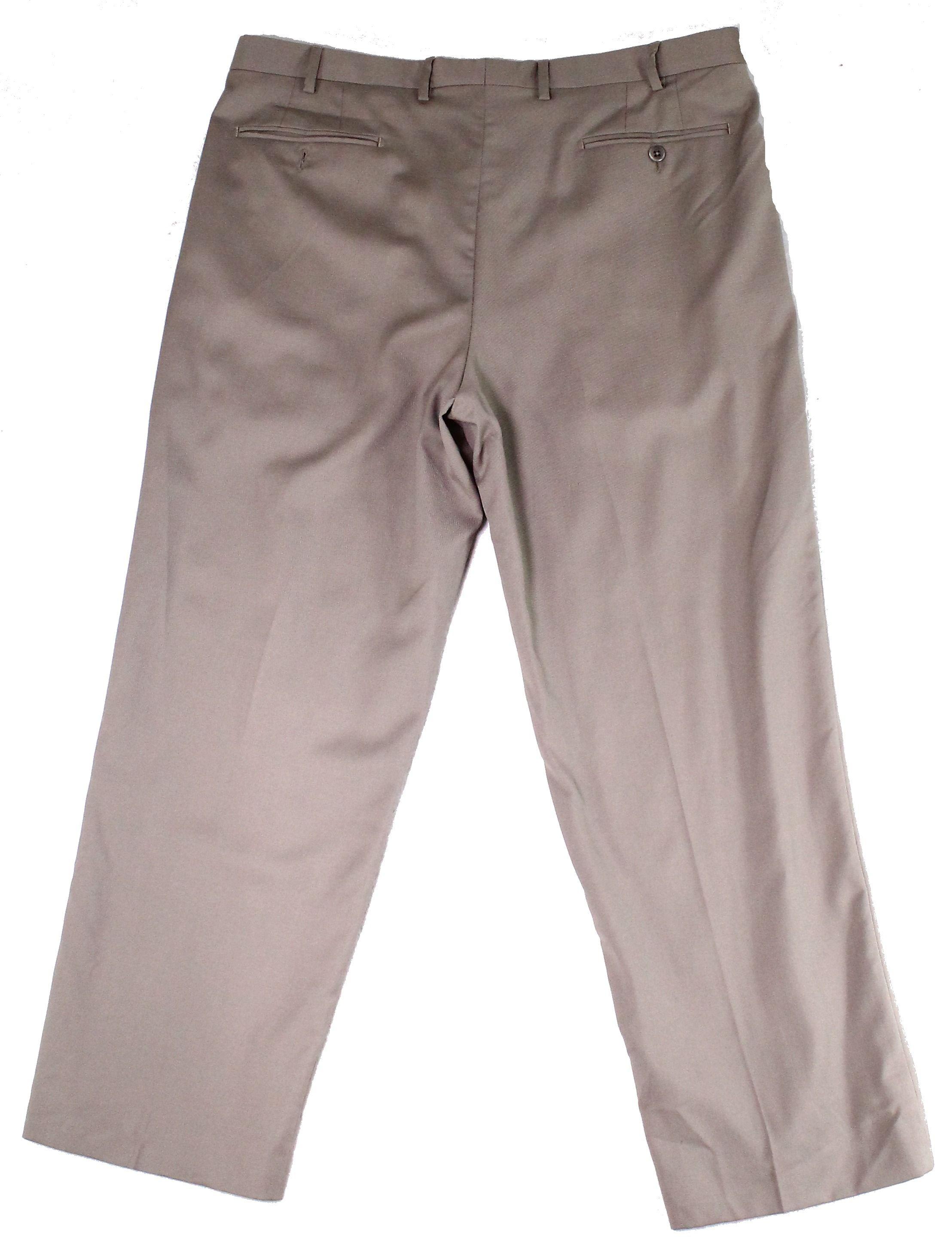 Zanella Mens Dress Pants Brown Size 38 Wool Stretch Waistband Solid