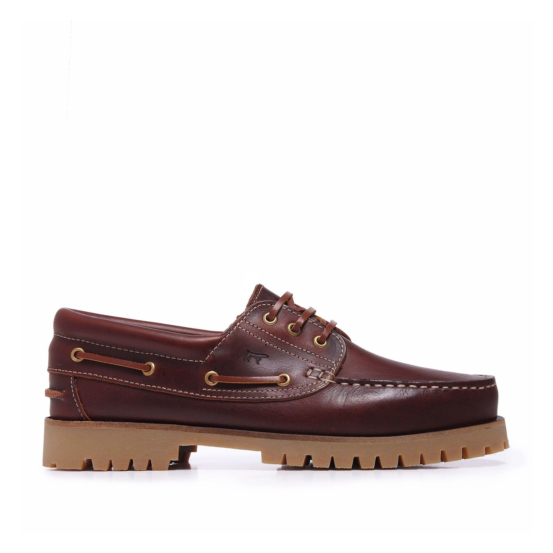 Men's Leather Bordeaux Moccasins Boat Shoes