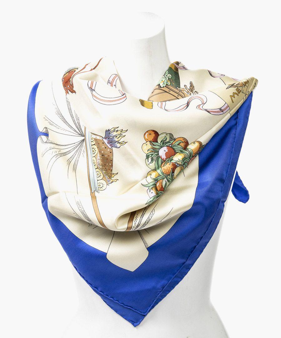 A la Gloire de la Cuisine Française silk twill scarf