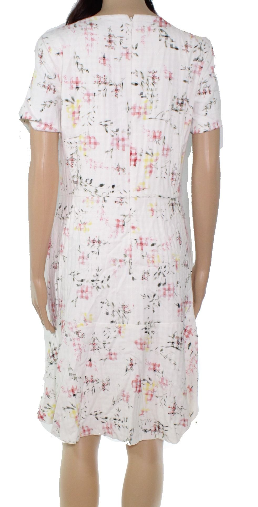 Lauren By Ralph Lauren Women's White Ivory Size 8 Floral A-Line Dress