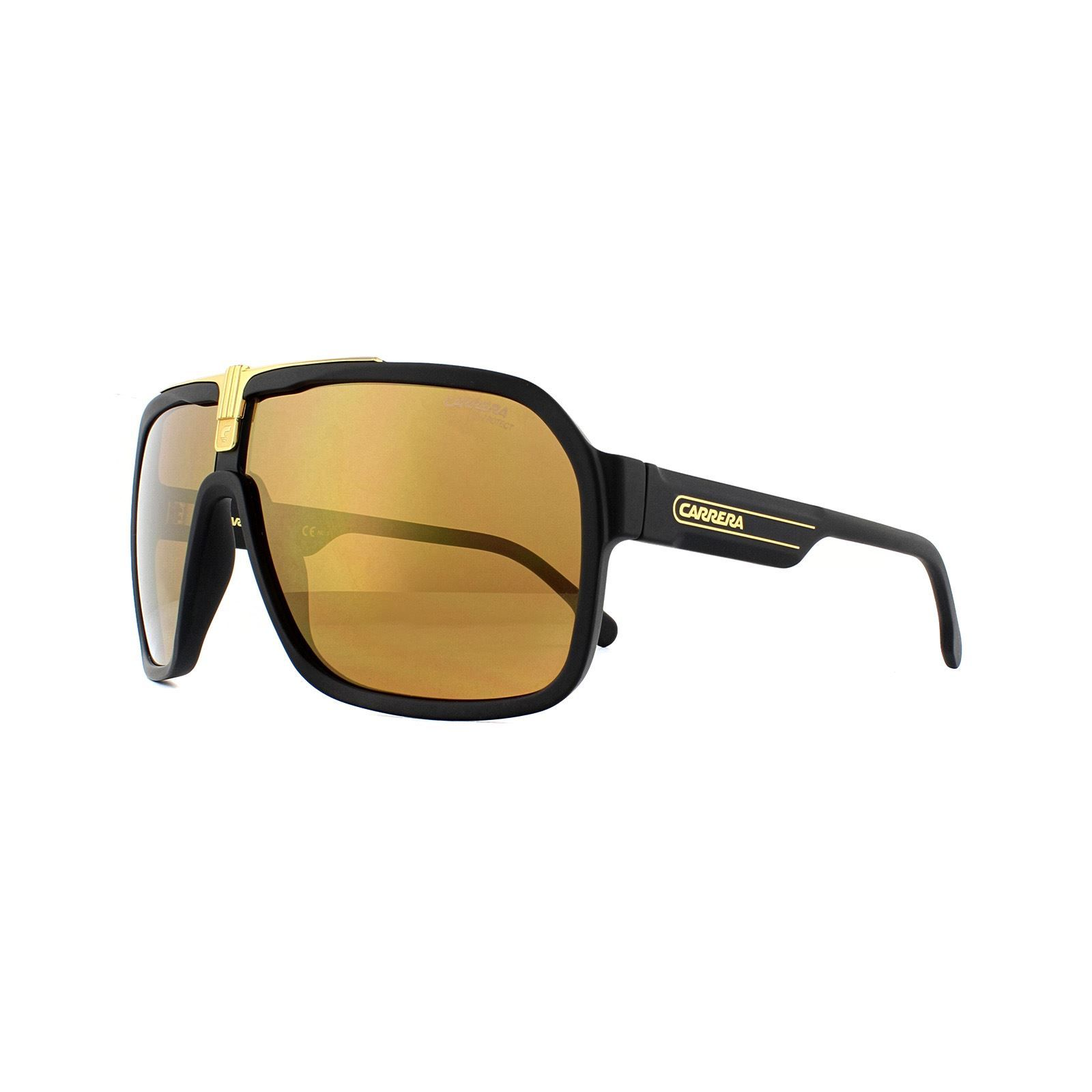 Carrera Sunglasses 1014/S I46 K1 Black Gold Gold Mirror