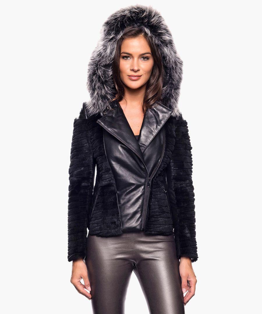 Adelys black leather jacket