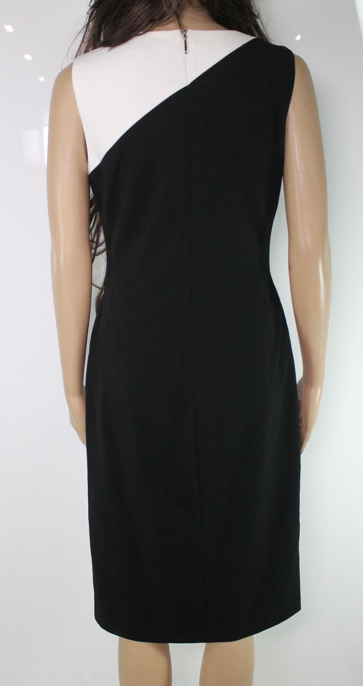 Lauren By Ralph Lauren Women's Dress Black Size 4 Sheath Colorblock