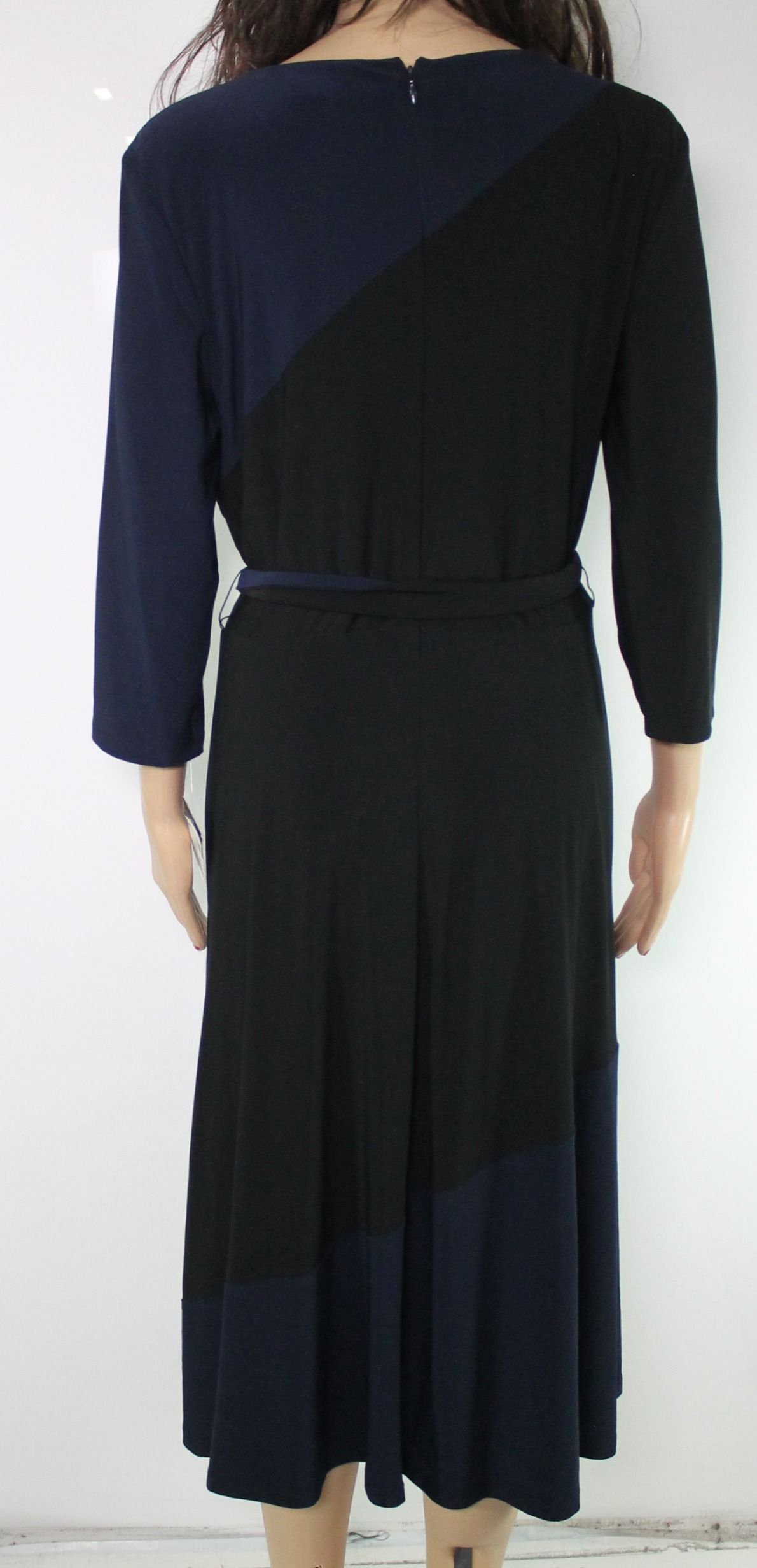 Lauren by Ralph Lauren Women's Dress Blue Size 12 A-Line Belted