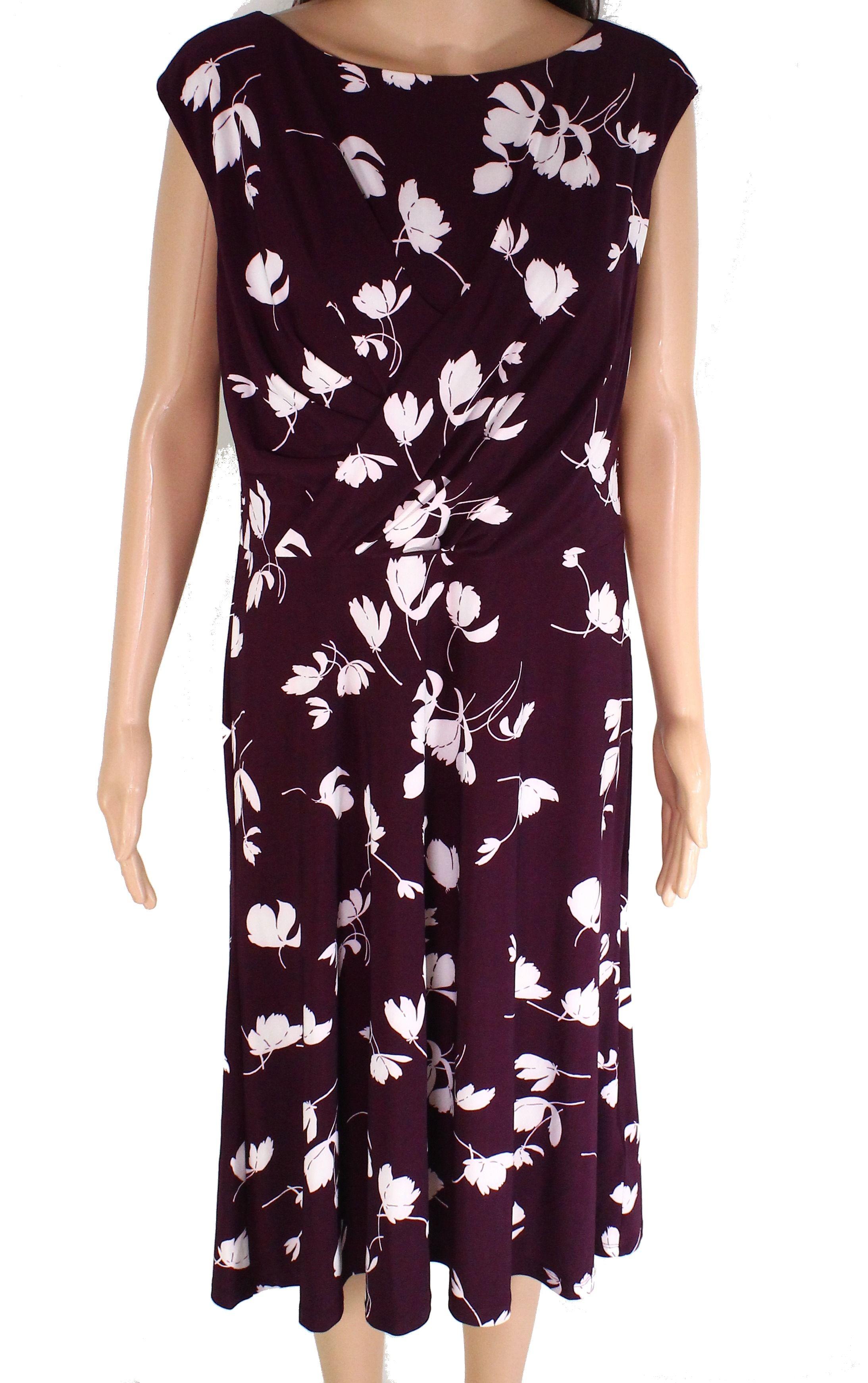 Lauren By Ralph Lauren Women's Dress Purple Size 4 Sheath Floral