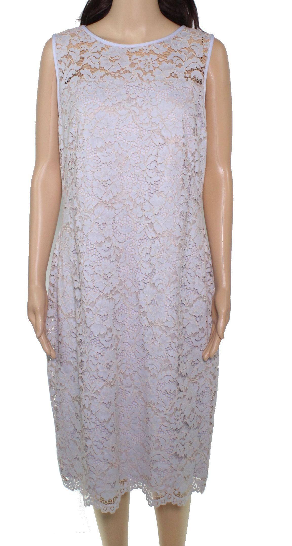 Lauren By Ralph Lauren Women's Dress Icy Blue Size 2 Sheath Lace